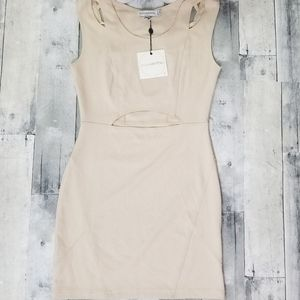 NEW Finders Keepers Nude Shake It Body Dress